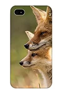 Special Storydnrmue Skin Case Cover For Iphone 4/4s, Popular Animal Fox Phone Case For New Year's Day's Gift