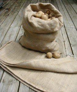 5 Extra Large Hessian Potato & Vegetable Sacks 66 x 116cm, 8.9oz grade Nutley's