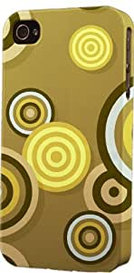 Brown Circles Pattern Dimensional Case Fits Apple iPhone 5 or iPhone 5s