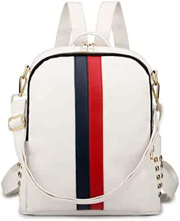 511107ecf5a6 Gerville Women Backpack Travel Daypack School Rucksack Fashion Mini Nylon PU  Leather Shoulder Bag Purse Sale