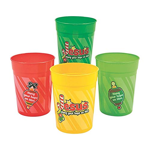 Hang Your Hope on Him Plastic Tumblers by Fun Express