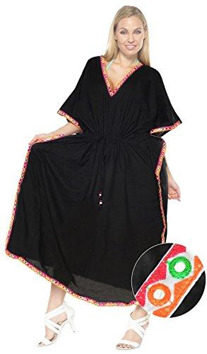 robe simple maxi robe couvrir robes de vêtements de nuit Kaftan rayon mancherons maillot manches Batwing maillot de bain l-4x