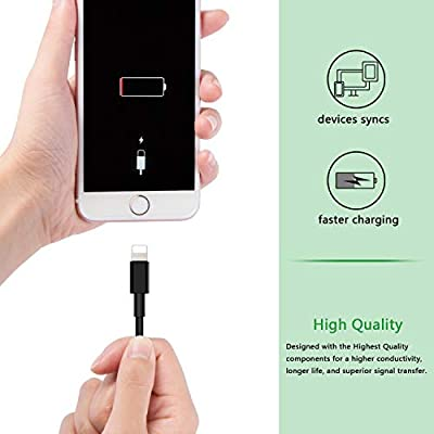 Charging Cables Short Charger Wire Fast Charging Syncing Compatible with XR XS MAX X 8 8plus 7 7 Plus 6 6s 5 5s SE Data Lines 10 Pack LOVENIMEN 1FT 0.3M USB Cable