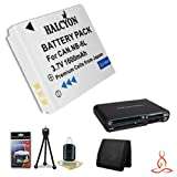 Halcyon 1600 mAH Lithium Ion Replacement NB-6L Battery + Memory Card Wallet + SDHC Card USB Reader + Deluxe Starter Kit for Canon PowerShot D10, D20, Elph 500 HS, S90, S95, SD1200 IS, SD1300 IS, SD3500 IS, SD4000 IS, SD770 IS, SD980 IS, SX260 HS, SX500 IS