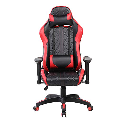 Ayvek Chairs JD-7219-RD Super Swift Extreme Ergonomic High Back Racer Style Gaming Chair Deep Red