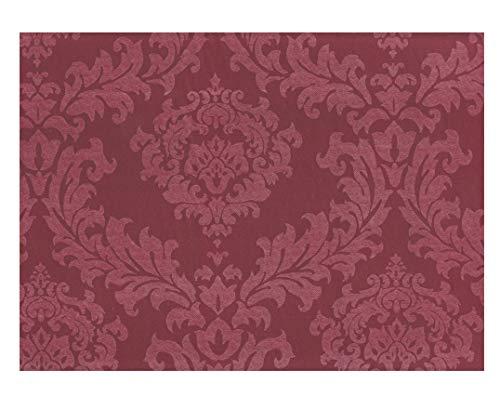 American Plastics Vinyl Tablecloth Flannel Backed Table Cloth Fleur de lis Scroll (Burnt Umber, 52 x 104 - Umber Two Light Burnt