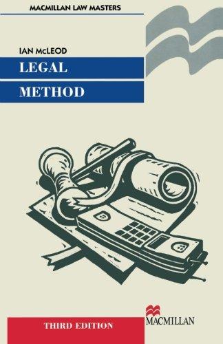 Legal Method (Macmillian Law Masters)