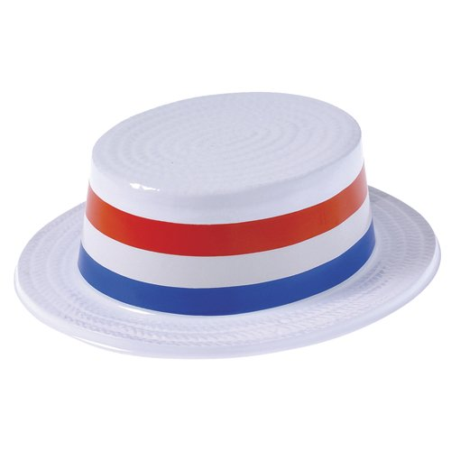 (DollarItemDirect Plastic Patriotic Skimmer Hats, Sold by 6 Dozens)