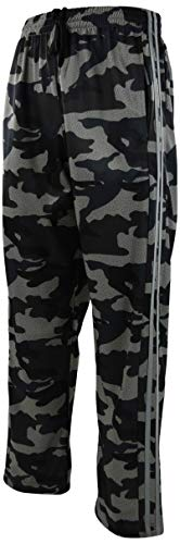 (ChoiceApparel Mens Warm Up Track Pants with Stripes (XL, 6321-Green Camo))