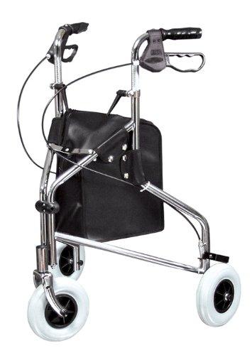 Lumex Sure Gait II Three Wheel Steel Rollator, Chrome ...