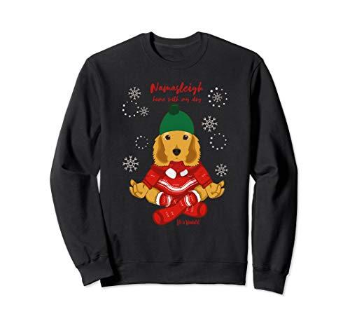 Funny Yoga Christmas Dog Shirt~ Cocker Spaniel ()