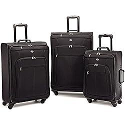 American Tourister Pop Plus 3 Piece Luggage Set Black