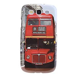 GX Bus Retro Style Pattern Hard Case for Samsung Galaxy S3 I9300