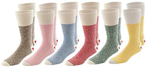 Multi Pack Fox River Original Rockford Red Heel? Adult Monkey Crew Socks - Best -
