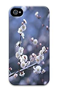 iPhone 4 4S Case Blooming White Flowers 3D Custom iPhone 4 4S Case Cover