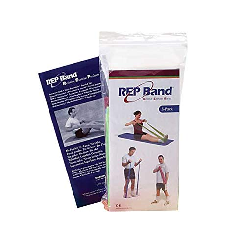 (Exercise Band Kit - Rep Band 3-Pack - Non-Latex - Medium Resistance Assortment)