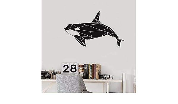 Etiqueta de la pared Geométrica Orca Orca Tatuajes de pared Mar ...