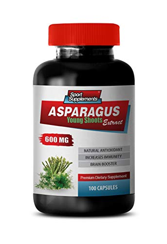 Heart Health Supplements Men - Asparagus 600 MG - Young Shoots Extract - Premium Dietary Supplement - antioxidant Supplement - 1 Bottle 100 Capsules