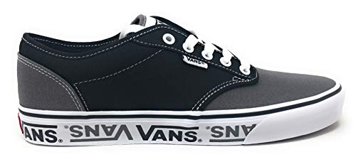 Logo Van - Vans Men's Atwood Low-Top Sneakers, 12 M US, (Sidewall Logo) Black/Grey
