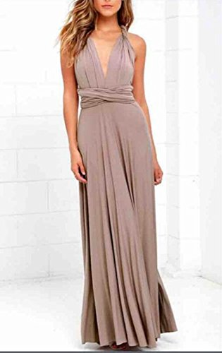 Autumn Water Sexy Long Dress Bridesmaid Formal Multi Way Wrap Convertible Infinity Maxi Dress Navy Blue