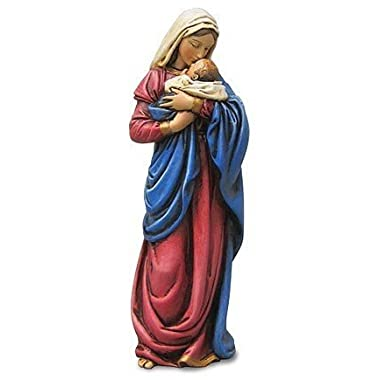 Mary Mothers Kiss Figurine Statue Baby Jesus Catholic Christian Religious Gift