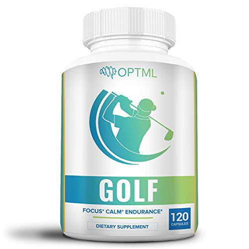 OPTML Golf Performance Supplement | Increased Focus | Reduced Stress | Enhanced Endurance | Improved Muscle Memory | Lower Scores | Less Strokes (120 Capsules)