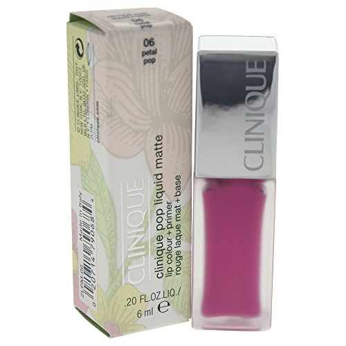 Clinique Pop Liquid Matte Lip Color + Primer, No. 06 Petal Pop, 0.2 Ounce