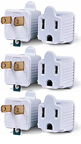 3-Prong to 2-Prong Adapter Grounding Converter 3 Pin to 2 Pin Power AC Ground Lifter For wall Outlets Plugs, Electrical, Household, Workshops, Industrial, And Appliances, Color White, (3 To 2 Pin)