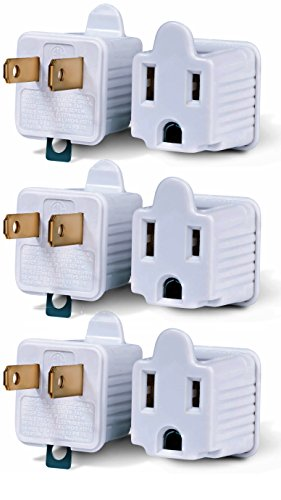 Adapter Cyberpower (3-Prong to 2-Prong Adapter Grounding Converter 3 Pin to 2 Pin Power AC Ground Lifter For wall Outlets Plugs, Electrical, Household, Workshops, Industrial, And Appliances (Original Version))