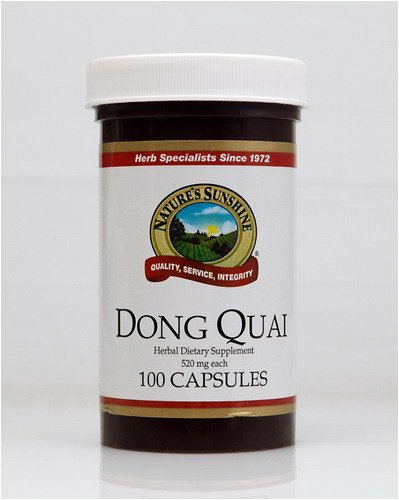 Naturessunshine Dong Quai Herbal Food Supplement 520 mg 100 Capsules (Pack of 12)