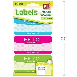 Office Works Sheets Name Stickers product image