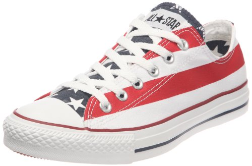 Converse Unisex Chuck Taylor All Star American Flag Ox White/Blue/Red Sneaker (7 Men/Women 9)
