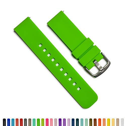 (GadgetWraps 22mm Silicone Watch Band - 22mm Watch Band Silicone with Quick Release Watch Pins - for Men and Women 22mm Quick Release Watch Band with 29 Unique Colors (22mm, Hyper Green))