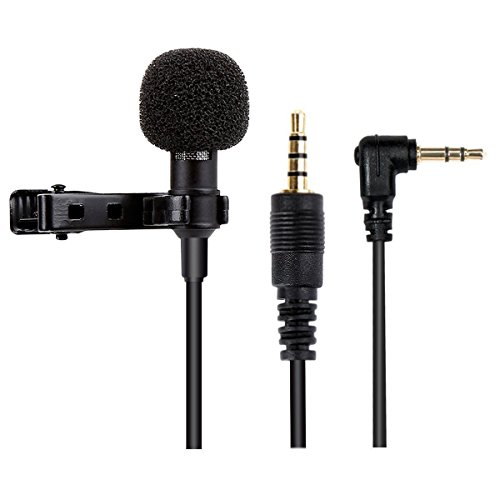 Microphone for Smartphone, Blusmart Omnidirectional Condenser Microphone for iPhone & Android Smartphone, Laptop Macbook, iPad, iPod Touch with Lapel Clip