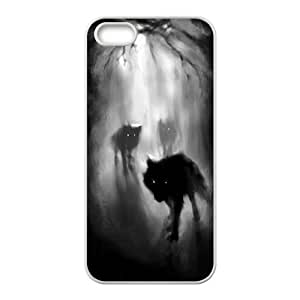 T-TGL(RQ) Iphone 5 5G 5S DIY Phone Case Horror Nights with Hard Shell Protection