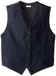 Calvin Klein Big Boys\' CK Pinstripe Vest, Navy, Medium