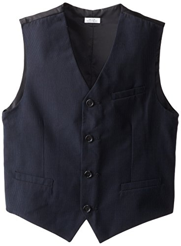 Calvin Klein Big Boys' CK Pinstripe Vest, Navy, X-Large