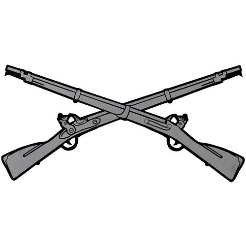 Infantry Crossed Rifles 5x2.5 Decal Mitchell Proffitt