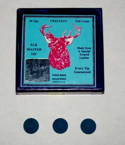 Billiard Pool Cue Tips - Elk Master 12mm (Soft)
