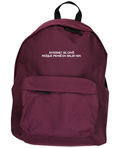 HippoWarehouse El Internet se Cayó Así Que Pensé en Salir Hoy kit mochila Dimensiones: 31 x 42 x 21 cm Capacidad: 18 litros Granate