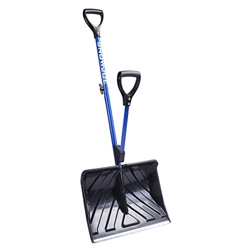 Snow Joe SHOVELUTION SJ-SHLV01 18-IN Strain-Reducing Snow Shovel w/ Spring Assisted Handle Cheap For Now