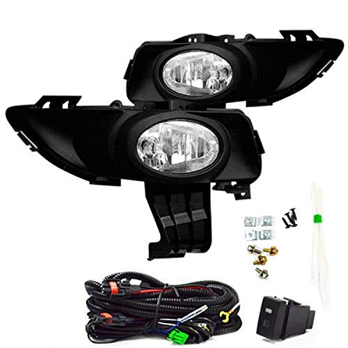 Remarkable Power FL7072 Fit For 2004-06 Mazda 3 i Sedan 4Dr Bumper Fog Light Kit with Switch