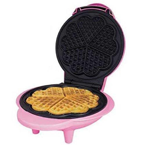 Mini elektrische Waffle Maker Maschine 5Herzform antihaft einfach zu reinigen Teller