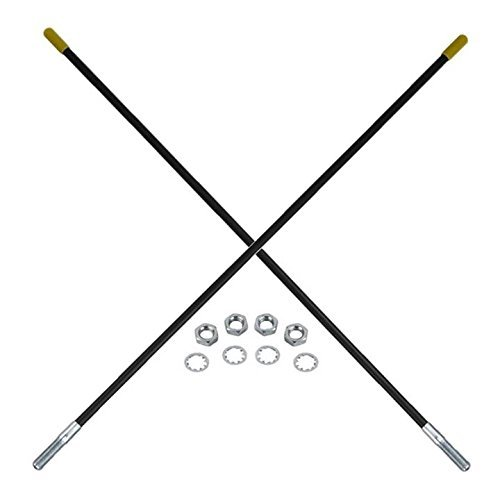 New Guide Markers / Guide Sticks PAIR (2) for Fisher Plow 7906K, 5108A BLACK by Crank-n-Charge