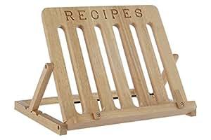 Atril de madera de caucho para libros de cocina