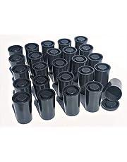 50 zwarte filmdozen met deksel waterdicht voor geocaching zaden opslag knutselen