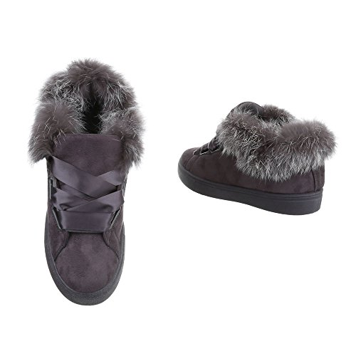 Loafer ups Blonder Leiligheter Flat Kvinners utforming På Grå Ital Ov61qxapn