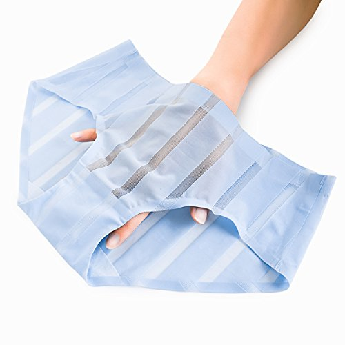 POKWAI Las Mujeres Mini Ropa Interior De Seda De Hielo Sección Delgada En La Cintura Sin Dejar Rastro Triángulo Pantalones De Encaje Hilos Hilos Transparente Ropa Interior Atractiva A3
