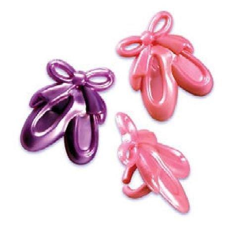 CakeDrake Dance Ballerina Ballet Slippers Pink Purple 24 Cupcake Topper Favor Decor Rings