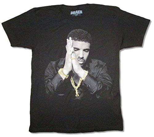 Drake Gold Ring Watch Chains Image Black T Shirt Adult - Drake Rap Style